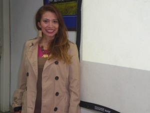 María Arroyo dictando el curso
