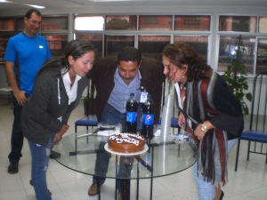 El equipo de la Oficina de Proyectos celebrando su primer aniversario